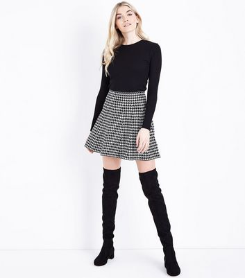 Black Ribbed Long Sleeve Top New Look
