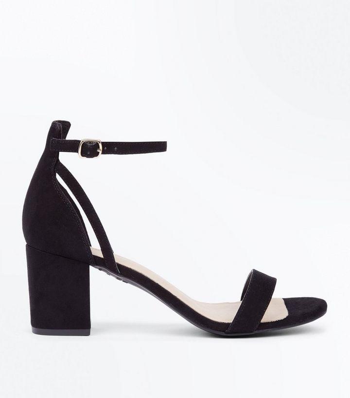 d70f0e4a1dce Black Comfort Flex Suedette Block Heel Sandals