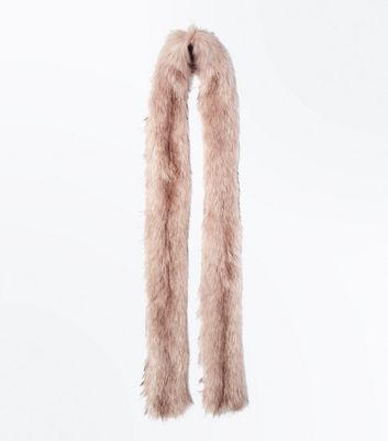 Pink Faux Fur Extra Long Stole New Look
