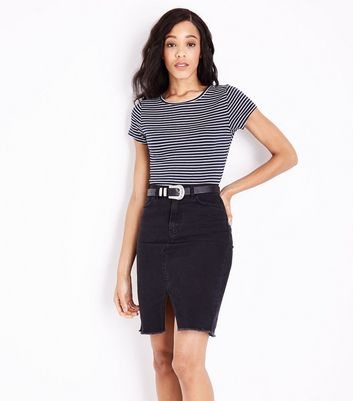 Blue Stripe Short Sleeve T-Shirt New Look