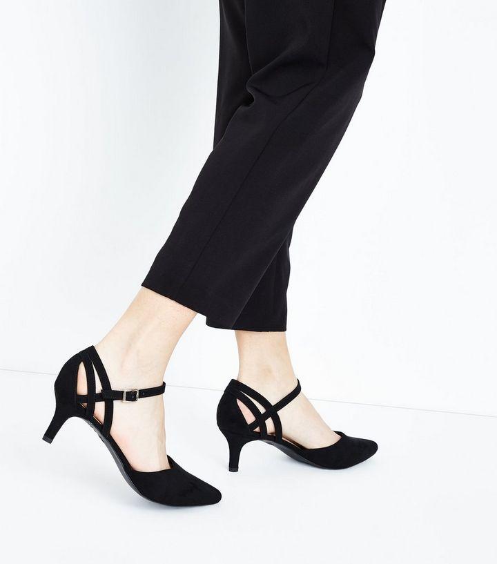 924812e15b5 ... Wide Fit Black Comfort Flex Suedette Pointed Kitten Heels. ×. ×. ×.  Shop the look