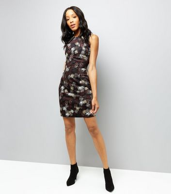 Apricot Burgundy Circle Pattern Dress New Look