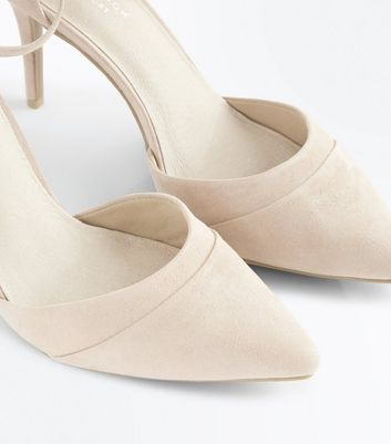 Nude Comfort Flex Suedette Pointed Court Shoes New Look