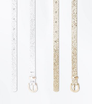 2 Pack Gold And Silver Belts New Look