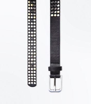 Black Stud Embellished Belt New Look