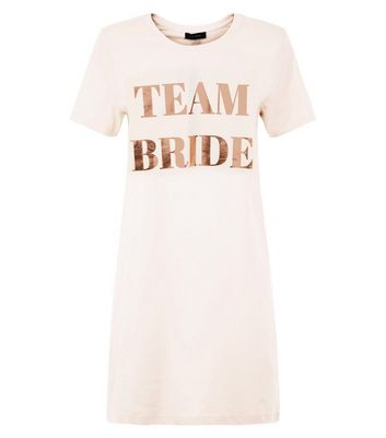 Pink Team Bride Print Nightshirt New Look