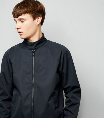 Navy Harrington Jacket New Look