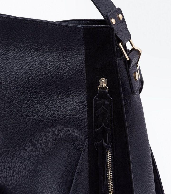 6e946c8d8 ... Black Zip Front Contrast Panel Shopper Bag. ×. ×. ×. Shop the look