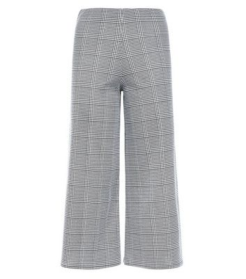 Innocence Black Check Culottes New Look