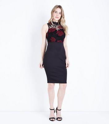 AX Paris Black Lace Top Midi Dress New Look