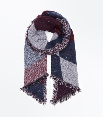 Red Boucle Scarf New Look