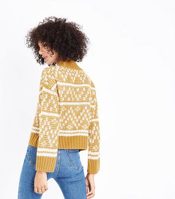 Yellow Fairisle Knit Jumper New Look