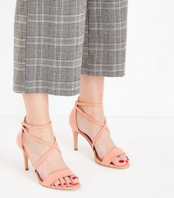 Coral Suedette Strappy Stiletto Sandals New Look