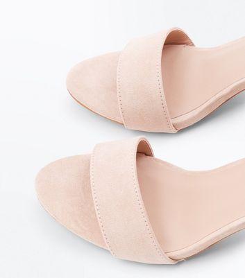 Light Brown Suedette Cone Heel Sandals New Look