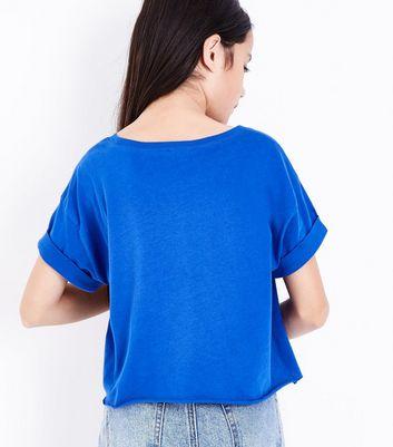 Teens Blue Detroit Print T-Shirt New Look
