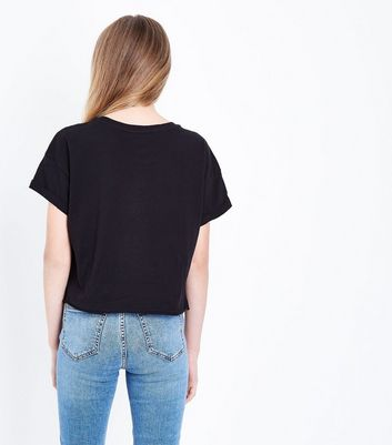 Teens Black Detriot Studded T-shirt New Look