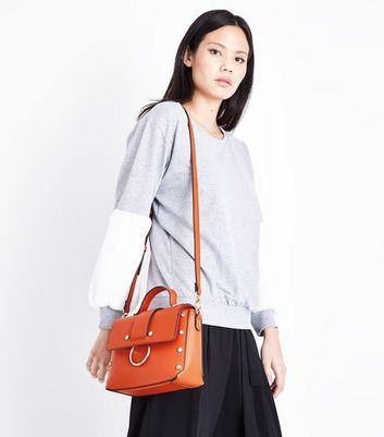 Bright Orange Metal Trim Cross Body Bag New Look
