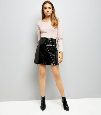 Cameo Rose Pink Lace Up Elbow Jumper New Look