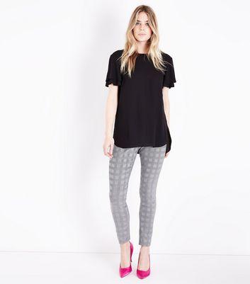 Black Tiered Sleeve Step Hem Top New Look