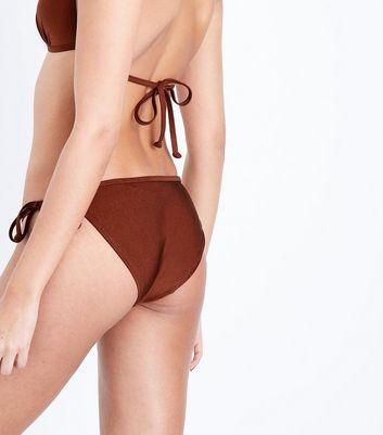 Rust Tie Side Bikini Bottom New Look