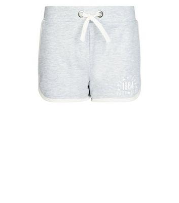 Teens Grey New York Slogan Side Shorts New Look