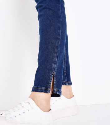Maternity Blue Rinse Wash Over Bump Jeans New Look