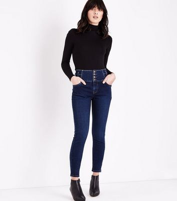 Blue Rinse Wash High Waist Skinny Yazmin Jeans