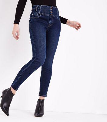 Blue Rinse Wash High Waist Skinny Yazmin Jeans New Look