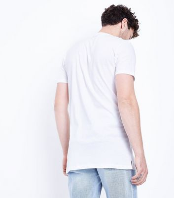 White Longline T-Shirt New Look