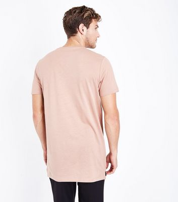 Pink Longline T-Shirt New Look
