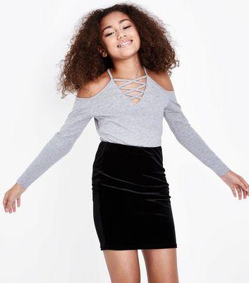 skirts denim maxi skater skirts new look