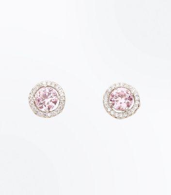 Cubic Zirconia Silver Stone Stud Earrings New Look
