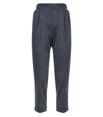 Innocence Grey Roll Hem Slim Leg Trousers New Look