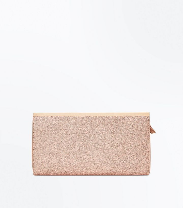 Rose Gold Glitter Clutch  63046d4e1