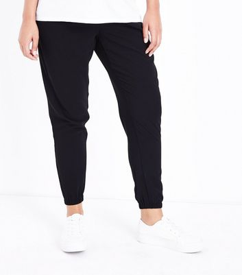 Maternity Black Cuffed Joggers New Look