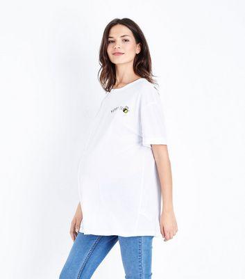 Maternity White Mummy To Bee Slogan T-Shirt New Look