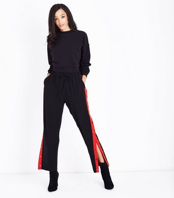 Black Brushed Cropped Sweatshirt New Look