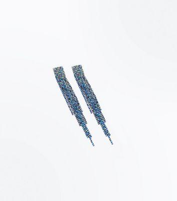 Multi Colour Tassel Chain Earrings New Look