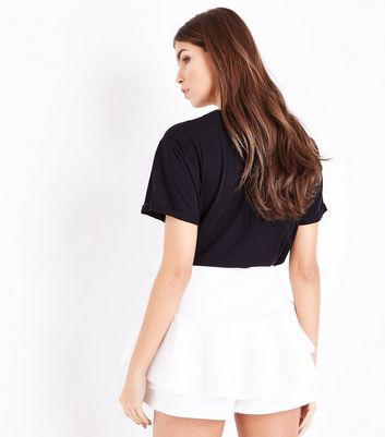 Cameo Rose Cream Frill Skort New Look