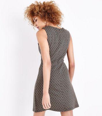 Apricot Stone Retro Wrap Mini Dress New Look