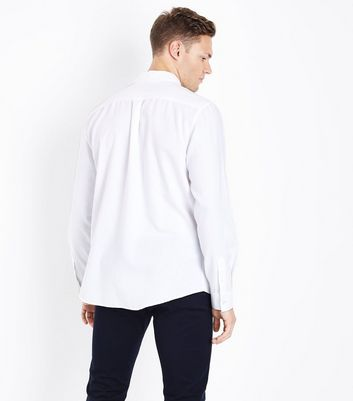 White Long Sleeve Oxford Shirt New Look