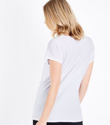 Maternity White Short Sleeve T-Shirt New Look
