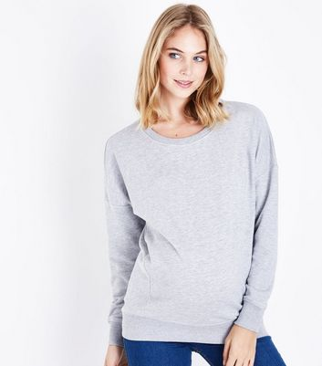 Maternity Grey Round Neck Sweatshirt New Look