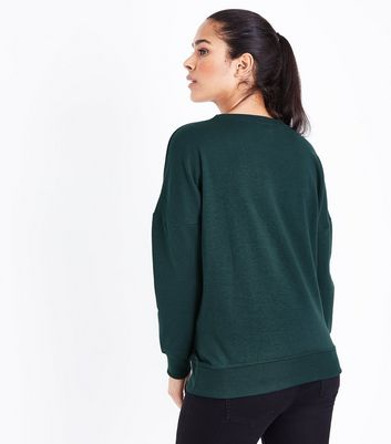 Maternity Green Round Neck Sweatshirt New Look