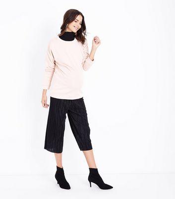 Maternity Shell Pink Drop Arm Sweatshirt New Look