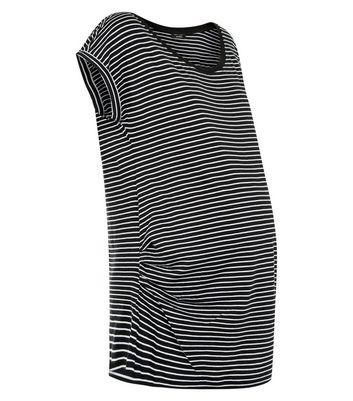 Maternity Black Stripe T-Shirt New Look