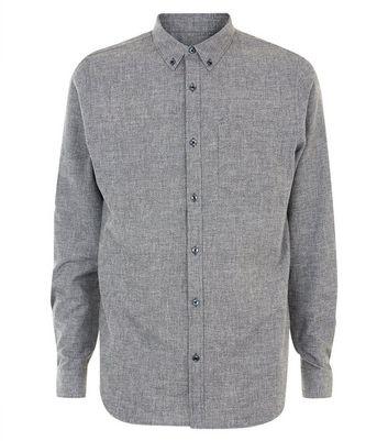 Grey Marl Oxford Shirt New Look