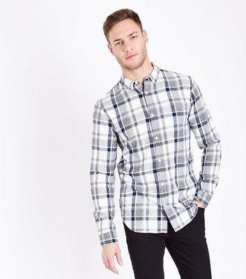 Black Long Sleeve Check Shirt New Look