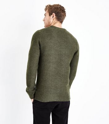 Khaki Cable Knit Jumper New Look