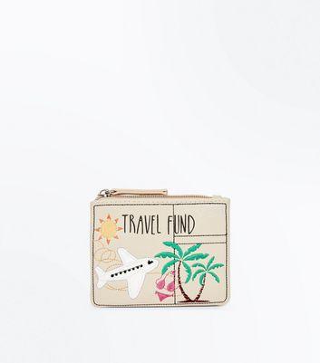 White Travel Fun Slogan Purse New Look